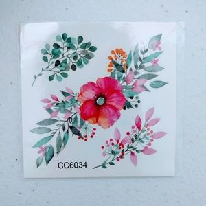 BUNDLE FOR $2: Floral Temporary Tattoo